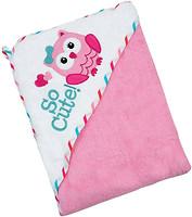 Baby Mix Сова 100x100 розовое