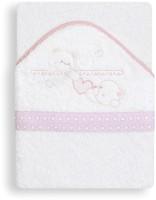 Interbaby Corazones 100x100 бело-розовое (01116-12)