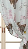 Arya Портьера Печатная бело-розовая 150x270 (14003 V-02)