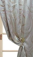 Arya Портьера Жаккард с люрексом золотисто-бежевая 150x270 (65375 V-10)