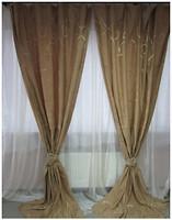 Arya Портьера Жаккард коричневая 150x270 (21000 V-04)