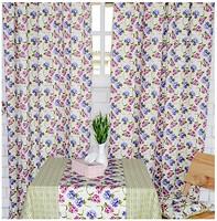 Фото Прованс Штора Садовые цветы бело-розово-фиолетовая 145x250