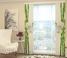 Фото Wellmira Бамбук и белая орхидея 80x225