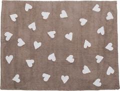 Lorena Canals Linen Hearts 120x160 white-beige (C-L-LHW)