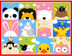 Фото Berni Cartoon Animals 1x1.3 (45976)