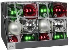 Фото Christmas House набор шаров разноцветный 8 см, 6 шт. (8718861132779)