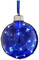 Новогодько шар с LED-нитью синий 10 см (972733, 5056137105618)