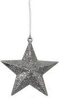 Фото Christmas House фигурка Звезда объемная серая 9 см (8718861347265)
