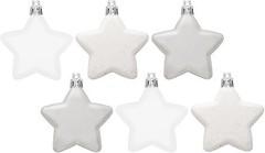 Фото House of Seasons набор фигурок Звезды белый 6 см 6 шт.