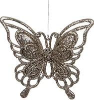 Фото House of Seasons подвеска Бабочка шампань 13 см
