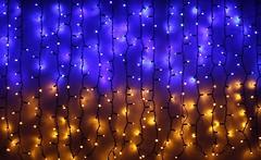 DeLux Curtain 288 LED 1.5x1 м синий-желтый/черный IP44 (10107981)