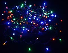 DeLux String 200 LED 10 м мультиколор/черный IP44 (90009102, 10008310)