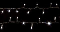 DeLux String 200 LED 10 м тепло-белый/черный IP44 (90009106, 90004711)