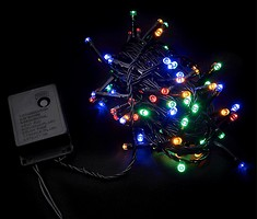 DeLux String C 100 LED 5 м мультиколор/черный IP20 (90009496)