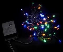 Фото DeLux String C 200 LED 10 м мультиколор/черный IP20 (90009498)