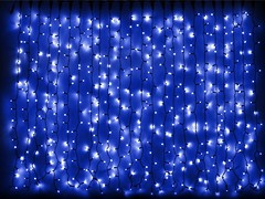 DeLux Curtain 1520 LED 2x7 м синий/черный IP44 (90009041)