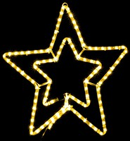 DeLux Мотив Star 54 см желтый IP44 (90009089)