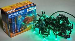 Фото Delux Icicle 108 LED 2x1 м черный/зеленый IP44 (90012943)