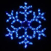 Фото Delux Мотив Snowflake 55 см синий IP44 (90012964)
