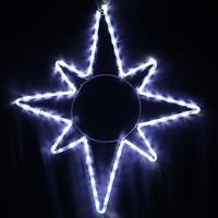 Фото Delux Мотив Star 65x75 см белый IP44 (90012985)