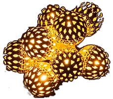 Фото Luca Lighting Серебристые шарики 1.35 м (8712799938502)